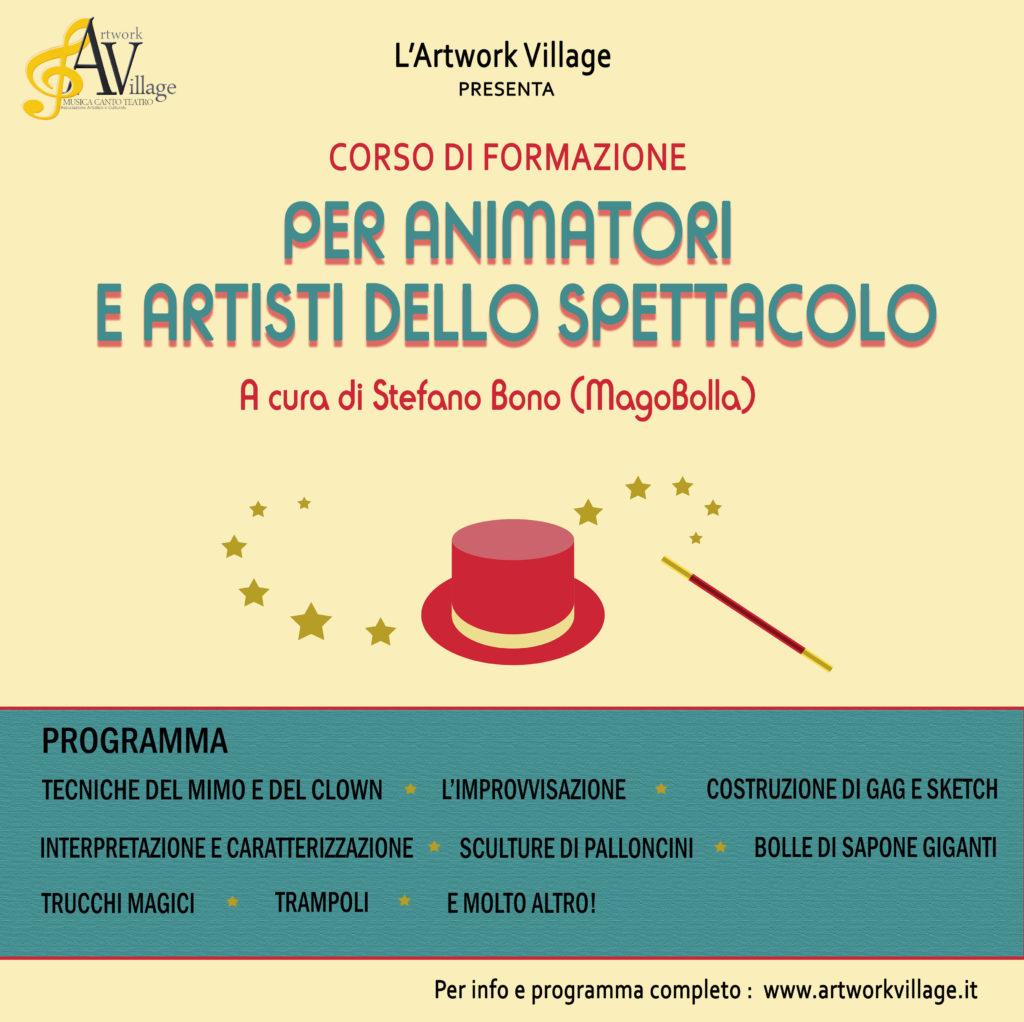 Corso di Formazione per Animatori e Artisti dello Spettacolo