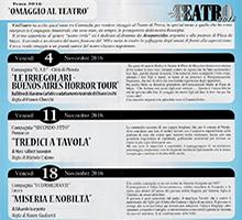"""ViviTeatro 2016 – La Compagnia dell'Artwork Village """"Secondo Atto"""" in """"Tredici a Tavola"""""""