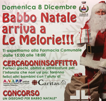 Babbo Natale arriva alle Melorie!!!